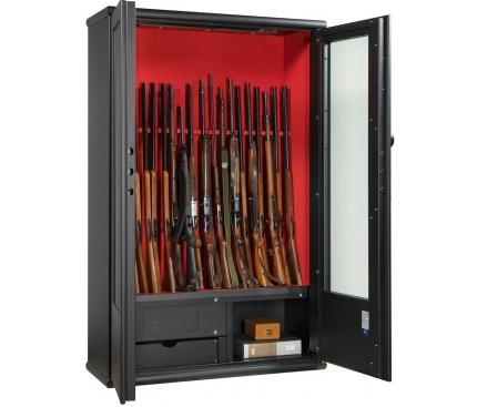 Üvegezett fegyverszekrényí HTE 106-01/B BLACK